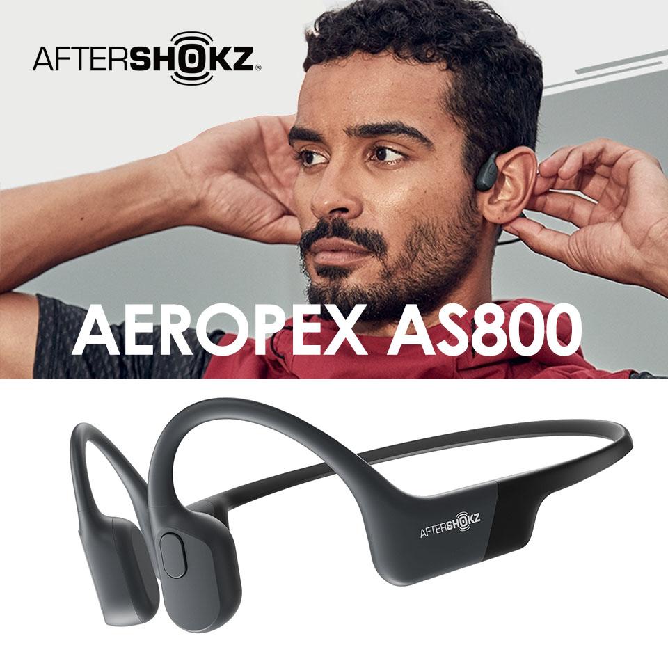 AFTERSHOKZ AS800 骨傳導藍牙運動耳機-黑