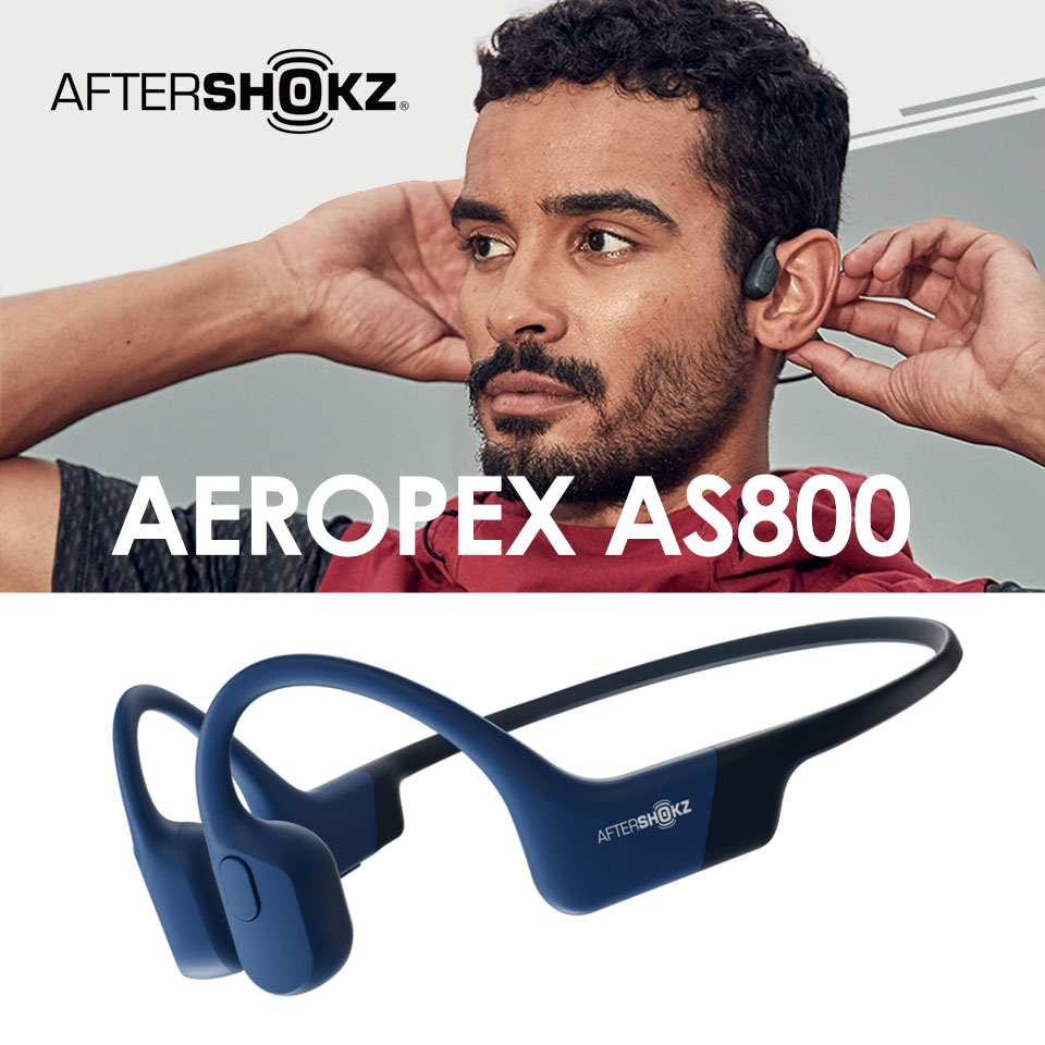 AFTERSHOKZ 骨傳導藍牙運動耳機-藍