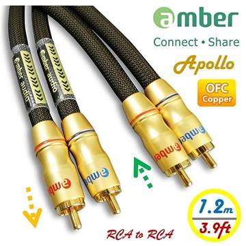 amber OFC無氧銅+Ag銀 RCA紅白音源線-1.2M