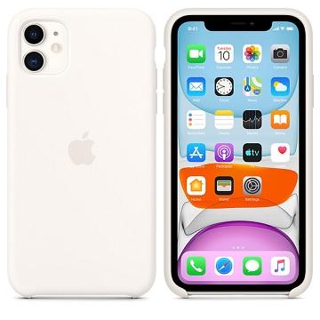 iPhone 11 矽膠保護殼-白色
