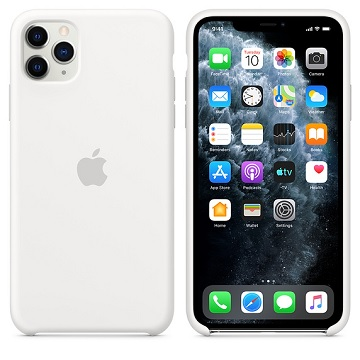 iPhone 11 Pro Max 矽膠保護殼-白色 MWYX2FE/A