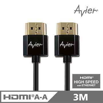 Avier HDMI A TO A 超薄影音傳輸線3M