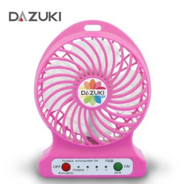 DAZUKI 隨身雙風扇 粉 AL106