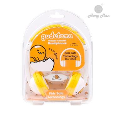 Hong man 三麗鷗系列 兒童耳機-蛋黃哥 KC01VL-GU