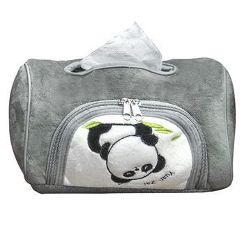 【安伯特】貓熊磁吸式面紙套-灰色