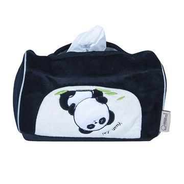 【安伯特】貓熊磁吸式面紙套-黑色