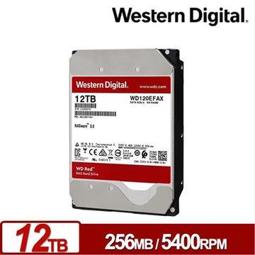 【12TB】WD 3.5吋 SATA硬碟(紅標) WD120EFAX