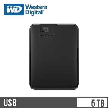 WD威騰 Elements 2.5吋 5TB 行動硬碟