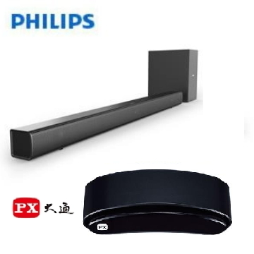 PHILIPS 藍牙微型劇院 + 大通 6K追劇王智慧電視盒 HTL1520B/96