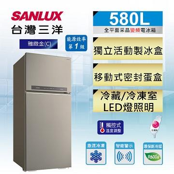 台灣三洋 580公升雙門變頻冰箱