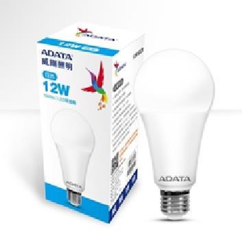 【二入組】ADATA 威剛12W高效能LED球燈泡-白光