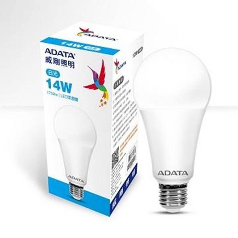 【二入組】ADATA 威剛14W高效能LED球燈泡-白光