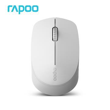 雷柏 M100 靜音三模藍牙無線光學滑鼠-白