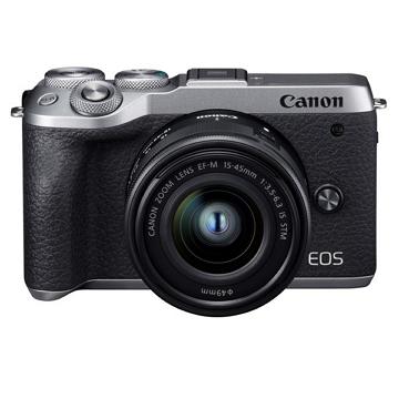 Canon EOS M6 II微單眼相機(單鏡組)-銀