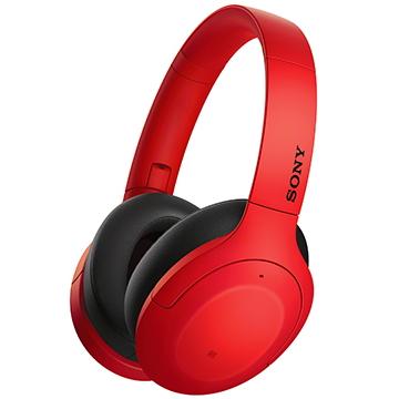 SONY索尼 無線藍牙降噪耳罩耳機 紅