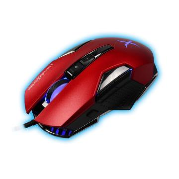 FOXXRAY 槍刃獵狐電競滑鼠-可樂紅
