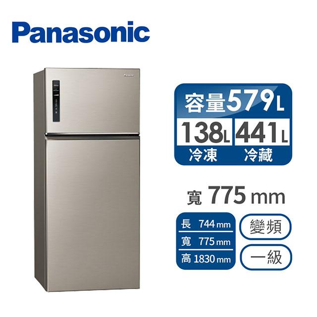 Panasonic 579公升雙門變頻冰箱