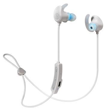 (福利品)鐵三角Audio-Technica 運動藍牙耳機-白