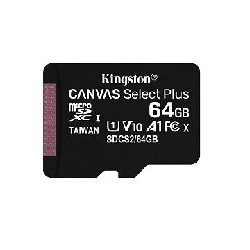 【15張同捆組】金士頓 MicroSDCS2(C10) UHS-I 64GB記憶卡 SDCS2/64GB