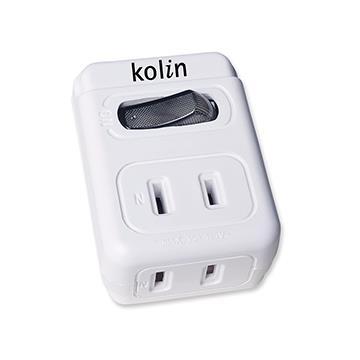 kolin 2P一開二插防雷擊插座