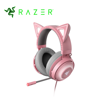 Razer雷蛇 Kraken Kitty Quartz 北海巨妖耳麥