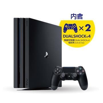 PS4 Pro 1TB 控制器同捆組 黑