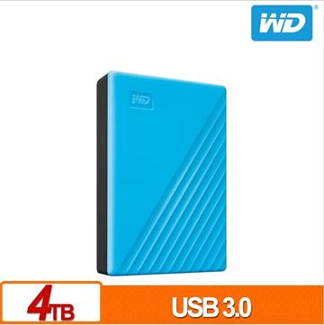 WD 2.5吋 4TB 行動硬碟My Passport(藍)