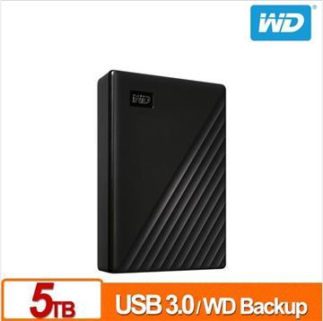 WD 2.5吋 5TB 行動硬碟My Passport(黑)