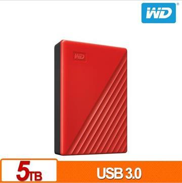 WD 2.5吋 5TB 行動硬碟My Passport(紅)