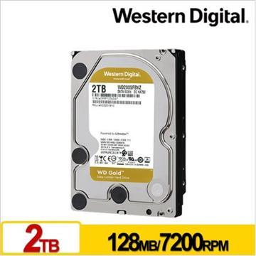 WD 3.5吋 2TB SATA企業級硬碟(金標)