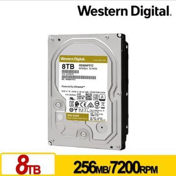 WD 3.5吋 8TB SATA企業級硬碟(金標)