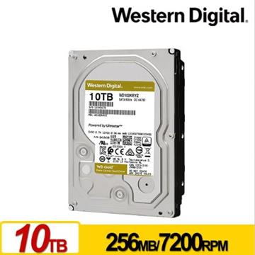 WD 3.5吋 10TB SATA企業級硬碟(金標)