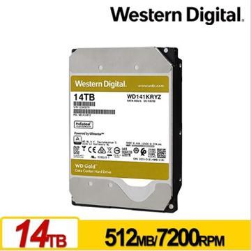 WD 3.5吋 14TB SATA企業級硬碟(金標)