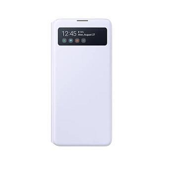 SAMSUNG Galaxy A71 原廠透視感應皮套-白