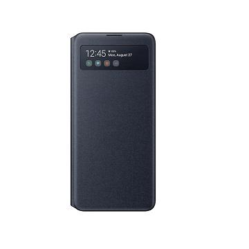 SAMSUNG Galaxy A71 原廠透視感應皮套-黑