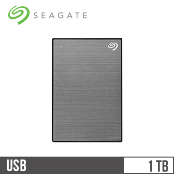 Seagate希捷 Backup Plus Slim 2.5吋 1TB行動硬碟 銀河灰