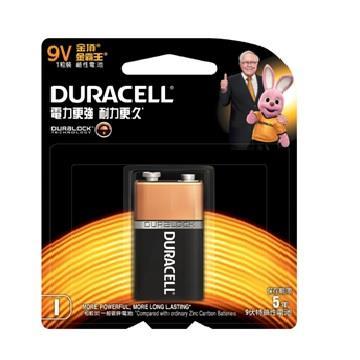 金頂DURACELL 金霸王鹼性電池9V