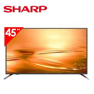 夏普SHARP 45型智慧連網顯示器+視訊盒