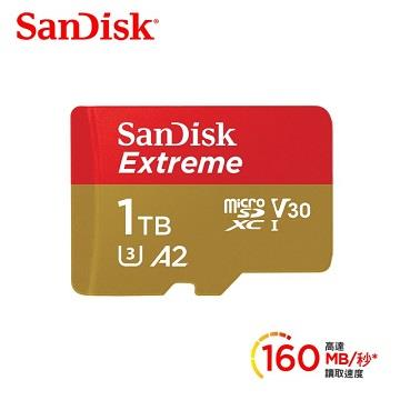 SanDisk Extreme microSD A2 1TB記憶卡