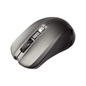INTOPIC 2.4GHz飛碟無線光學滑鼠-黑