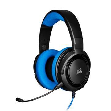 CORSAIR HS35 立體聲遊戲耳機-藍