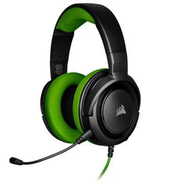 CORSAIR HS35 立體聲遊戲耳機-綠