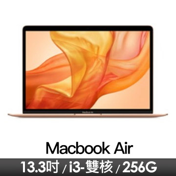 蘋果Apple MacBook Air 13.3吋 1.1GHz/8G/256G/IIPG/金色/2020年款