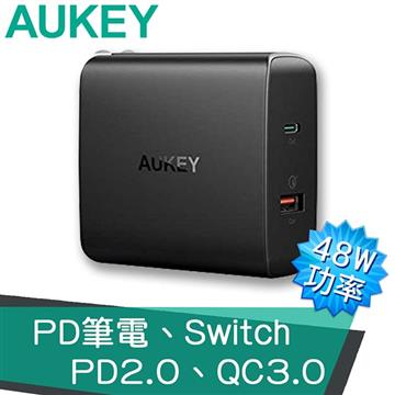 AUKEY PD+QC 2孔快速充電器