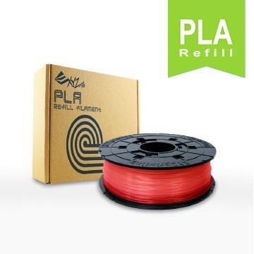 XYZ Printing-3D列印PLA線材補充包(透明紅)