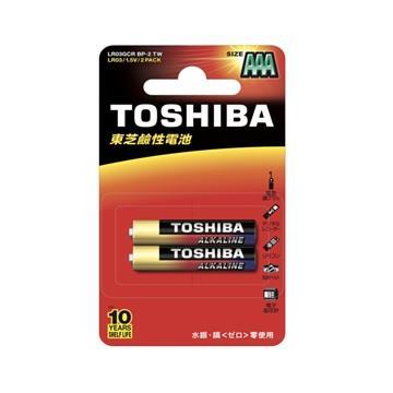 東芝TOSHIBA 鹼性4號電池2入卡裝 LR03