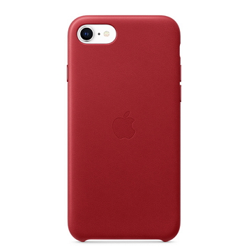 Apple iPhone SE 皮革保護殼-紅(PRODUCT)
