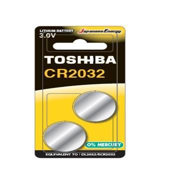 東芝TOSHIBA 鈕扣電池 CR2032-2入卡