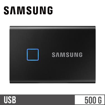 SAMSUNG T7 Touch 500GB SSD行動硬碟-黑
