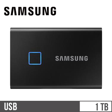 SAMSUNG T7 Touch 1TB SSD行動硬碟-黑